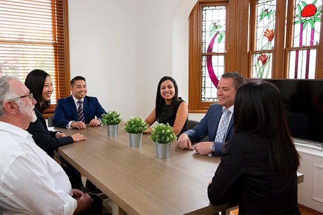 avondale wealth management team having meeting